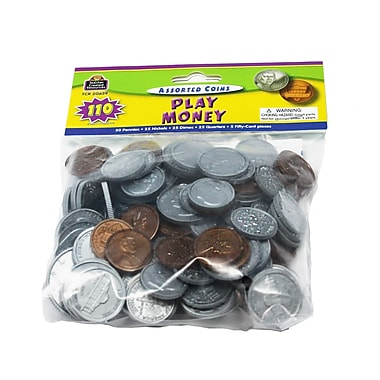 Teacher Created Resources Play Money: Assorted Coins, Grades K And Up