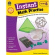 Teacher Created Resources Instant Math Practice Book, Grade 6