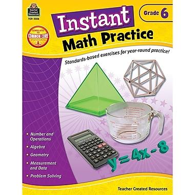 Teacher Created Resources Instant Math Practice Book, Grade 6