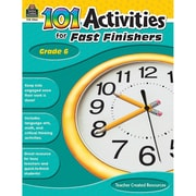 Teacher Created Resources 101 Activities For Fast Finishers Activity Book, Grade 6