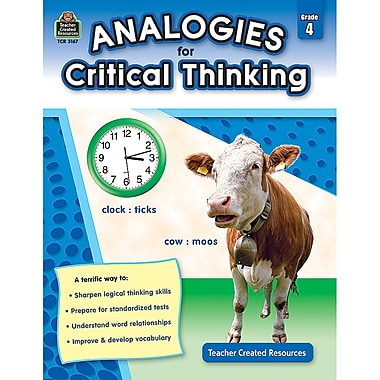 Teacher Created Resources Analogies For Critical Thinking Book, 4 Grade