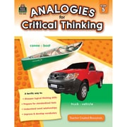 Teacher Created Resources Analogies For Critical Thinking Book, 5 Grade