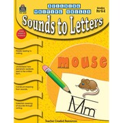 Teacher Created Resources Building Writing Skills Sounds to Letters Activity Book, Grade PreK-K