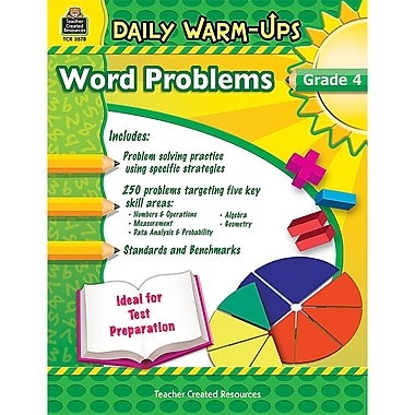 Teacher Created Resources Daily Warm-Ups: Problem Solving Math Book, Grade 4
