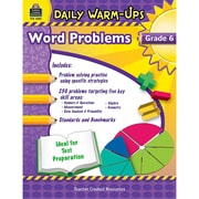 Teacher Created Resources Daily Warm-Ups: Problem Solving Math Book, Grade 6