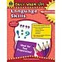 Teacher Created Resources Daily Warm-Ups: Language Skills Book,