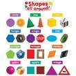 Teacher Created Resources Mini Bulletin Board Set, Shapes All Around
