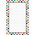 Teacher Created Resources 5in. x 8in. Notepad, Colorful Paw Prints