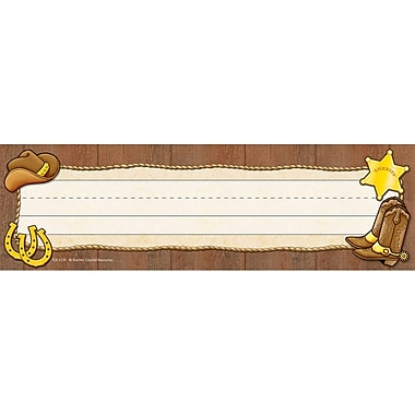 Teacher Created Resources Infant - 6 Grade Flat Name Plate, Western