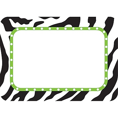 Teacher Created Resources Infant - 12 Grade Name Tag, Zebra