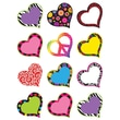 """Teacher Created Resources 2.62"""" Mini Accents, Fancy Hearts"""
