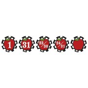Teacher Created Resources Days Calendar, Circles & Apples