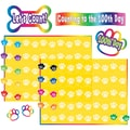 Teacher Created Resources Bulletin Board Display Set, Paw Prints Counting To 100