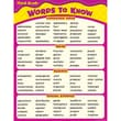 Teacher Created Resources Words To Know In 3 Grade Chart, Language Arts