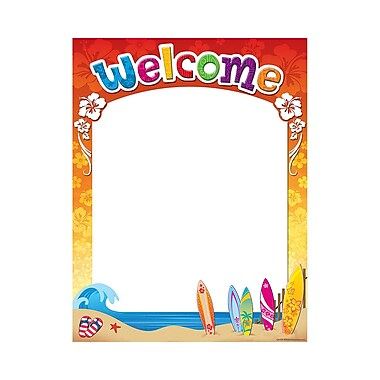 Teacher Created Resources Surf's Up Welcome Chart