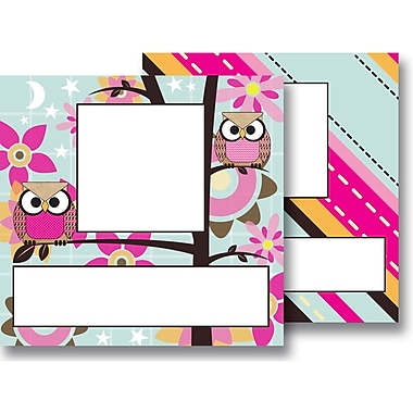 Top Notch Teacher Products® Picture Plate Twin Pack, Paper Bag Owls Stitch Stripes