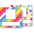 Top Notch Teacher Products® Infant - 6 Grade Picture Plate Twin Pack, Angle Stripes Colorful Dots