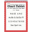 Top Notch Teacher Products® 1 1/2in. Ruled Polka Dot Tablet Flip Chart, Red