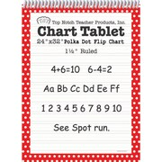 """Top Notch Teacher Products® 1 1/2"""" Ruled Polka Dot Tablet Flip Chart, Red"""