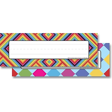 Top Notch Teacher Products® Infant - 6 Grade Mini Name Plate, Kaleidoscope Colorful Diamonds