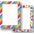 Top Notch Teacher Products® Angle Stripes Colorful Dots Computer Paper Twin Pack