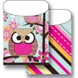 Top Notch Teacher Products® Twin Pack Library Pockets, Paper Bag Owls Stitch Stripes