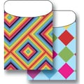 Top Notch Teacher Products® Twin Pack Library Pockets, Kaleidoscope Colorful Diamonds
