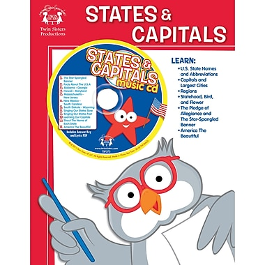 Twin Sisters Productions™ States & Capitals Workbook and CD