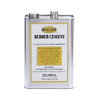 Union Rubber 16 oz. Best-Test Rubber Cement