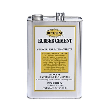 Union Rubber 1 Gal Best-Test Rubber Cement
