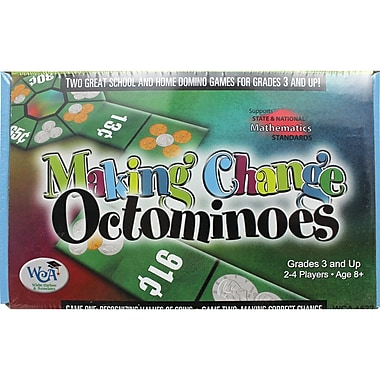 Wiebe Carlson Making Change Octominoes Game, Grades 3 and Above