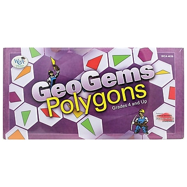 Wiebe Carlson GeoGems Polygons Game, Grades 4 and Above