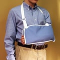 NYOrtho Arm Sling with Hook and Loop in Navy; Medium