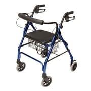 Lumex Walkabout Lite Four-Wheel Rollator; Royal Blue