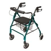 Lumex Walkabout Lite Four-Wheel Rollator; Teal Green