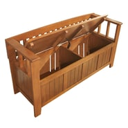 Simpli Home Acadian Soild Wood Entryway Storage Benches