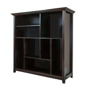 Simpli Home Amherst Multi Cube Storage Bookcase, Dark American Brown