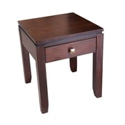 "Simpli Home Cosmopolitan 20""H x 20""W x 18 1/2""L Solid Wood End Table, Coffee Brown"