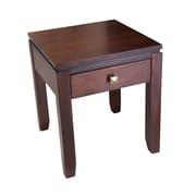 "Simpli Home Cosmopolitan 20""H x 20""W x 18 1/2""L Solid Wood End Table, Coffee Brown"