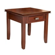 "Simpli Home Artisan 20""H x 20 1/2""W x 20 1/2""L Solid Wood End Table, Medium Auburn"