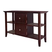 "Simpli Home Acadian 30""H x 47 1/2""W x 16""L Solid Wood Console Table, Tobacco Brown"