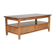 "Simpli Home Warm Shaker 18""H x 48""W x 24""L Solid Wood Coffee Table, Honey Brown"