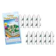 "Beistle 5"" x 24"" Tabletop Picket Fence, 12/Pack"