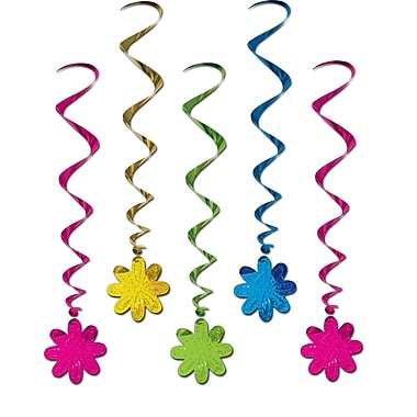 Beistle 3' Flower Whirls, 15/Pack