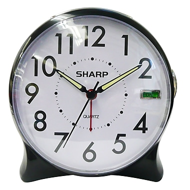 MZ Berger SPC127A Analog Table Clock, Black