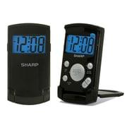MZ Berger SPC457 Digital Table/Travel Clock, Black