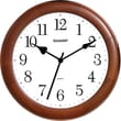 MZB SPC954 Sharp 12in. Quartz Analog Wall Clock With Wood Case, Cherry