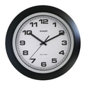 MZB SPC955 Sharp 10in. Quartz Analog Wall Clock, Black