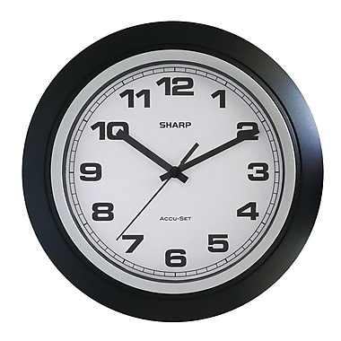 MZ Berger SPC955 Plastic Analog Wall Clock, Black