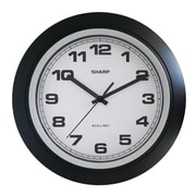 MZB SPC955 Sharp 10 Quartz Analog Wall Clock, Black